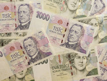 1000 e 2000 banconote ceche della corona Fotografia Stock