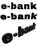 E-bank black 3D  tex Stock Photography