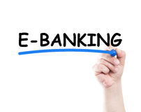 E banking Royalty Free Stock Photography