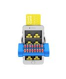 E-banking. Gold brick in the smartphone protected. 3d illustrati Stock Photos