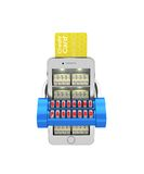 E-banking. Stack of currency in the smartphone protected. 3d ill Royalty Free Stock Images