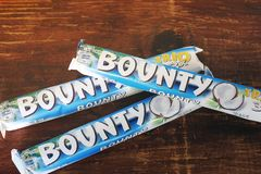 E Barra de chocolate imagen de archivo