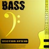 E-Bass-Gitarren-Vektorillustrationen Lizenzfreie Stockbilder