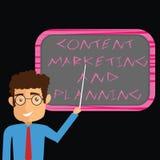 E Bedrijfsconcept voor de Adverterende de strategieënmens van de Bevorderingsoptimalisering royalty-vrije illustratie