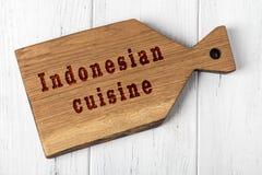 E Begrepp av indonesisk kokkonst vektor illustrationer