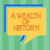 E Begreppet som betyder forntida kulturtraditioner för värdefulla forntida berättelser, staplar stock illustrationer