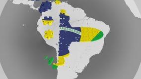 E Begriffs-Animation 3D des brasilianischen Tourismus stock abbildung