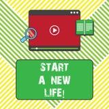 E Begriffsfoto ändern Ihre Gewohnheiten ist unterschiedliches änderndes Richtung Tablet-Video stock abbildung