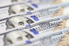 E Benjamin Franklin ` s ono przygląda się od dolara rachunku r jeden zdjęcie stock