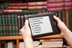 E-bibliotheek Stock Foto's