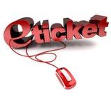 E-biglietto Immagine Stock Libera da Diritti