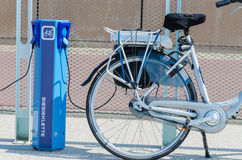 E-bike charging station Stock Photos