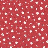 E Bloemen naadloos patroon Getrokken door hand stock illustratie