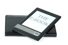 E-boek apparaat en dekking Royalty-vrije Stock Afbeeldingen