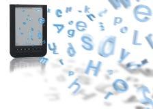 E-boek vliegende brieven Stock Afbeelding