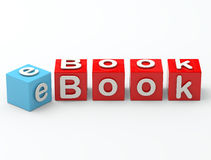 E- boekbrieven Stock Foto's