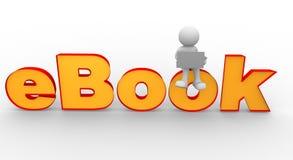 E-bok royaltyfri illustrationer