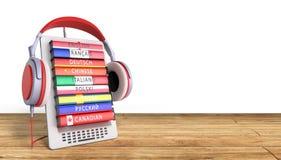 E-boock уча языки онлайн 3d представляют на деревянном успехе знает бесплатная иллюстрация
