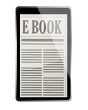 E-book 3d concept Stock Image