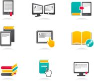 E-book, audiobook and literature icons - 2. Collection of E-book, audiobook and literature icons Royalty Free Stock Images