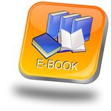 E-Book Button Royalty Free Stock Photos