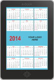 E-book calendar 2014 Stock Images