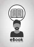 E-book concept design Stock Image
