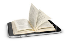 E-book 3d concept Royalty Free Stock Image