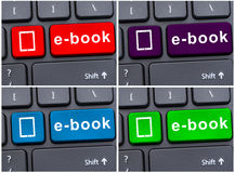 E-book download as education concept Royalty Free Stock Photography