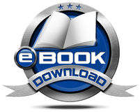 E-Book Download - Metallic Icon Stock Photo