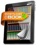 E-Book Download - Tablet Computer Royalty Free Stock Images