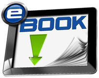 E-Book Download - Tablet Computer Royalty Free Stock Photography