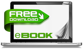 E-Book Free Download - Laptop Computer Royalty Free Stock Image