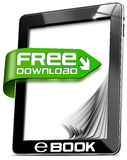 E-Book Free Download - Tablet Computer Stock Image