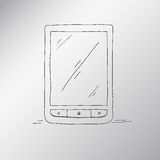 E-book hand-drawn, an electronic device for Stock Photo