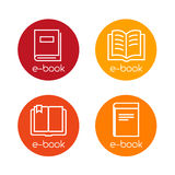E-book Icons Royalty Free Stock Photography