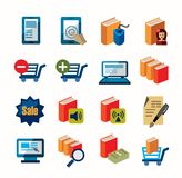 E-book icons Royalty Free Stock Image