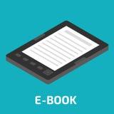 E-Book isometric. Stock  illustration Royalty Free Stock Image