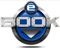 E-Book - Metallic Icon Royalty Free Stock Photography