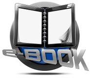 E-Book - Metallic Icon Stock Images