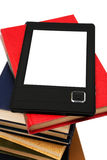 E-book and old books Stock Image