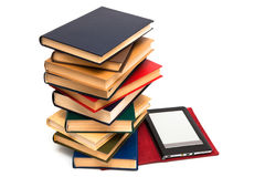 E-book and old books Royalty Free Stock Photos