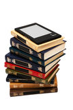 E-book and old books Royalty Free Stock Photo