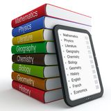 E-book and paper books Stock Photo