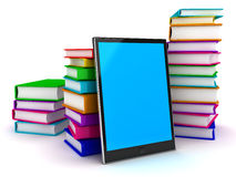E-Book reader. This is a 3D rendered picture Royalty Free Stock Photography