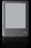 E-book reader. Illustration of ebook reader with black background Stock Image