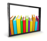 E-Book reader. This is a 3D rendered picture Royalty Free Stock Images
