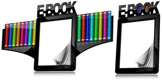 E-book Reader with Blank Pages Royalty Free Stock Image
