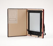 Kindle reader in case Stock Photo
