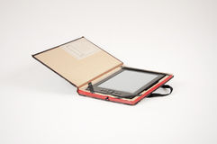 E-book reader in a case Stock Photos